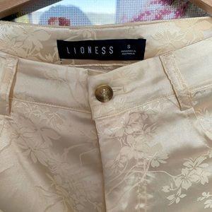 LIONESS St Germain Pant CREAM floral pants S/M